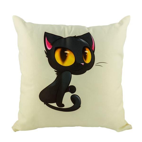 Picture of Декоративна възглавница - Котка с големи очи 1