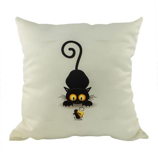 Снимка на Декоративна възглавница - Котка с мишка 27