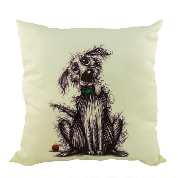 Снимка на Декоративна възглавница - Куче Купон 1