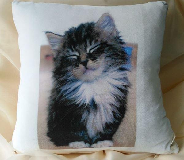 Снимка на Декоративна Възглавница - Котка Пухчо 3
