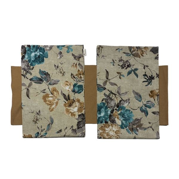 Снимка на Комплект Декоративни ленти за маса  - Сини цветя - 35/170 и 2бр. 35/110