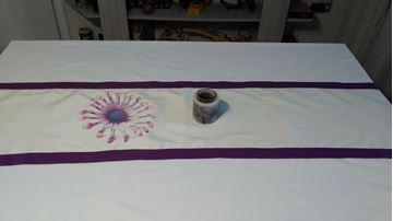 Picture of Декоративна лента за маса - Принт  Цвете- 35/150см