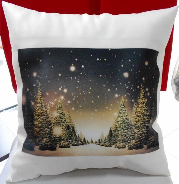 """Снимка на Декоративна възглавница """"Коледа"""" - Коледна нощ"""