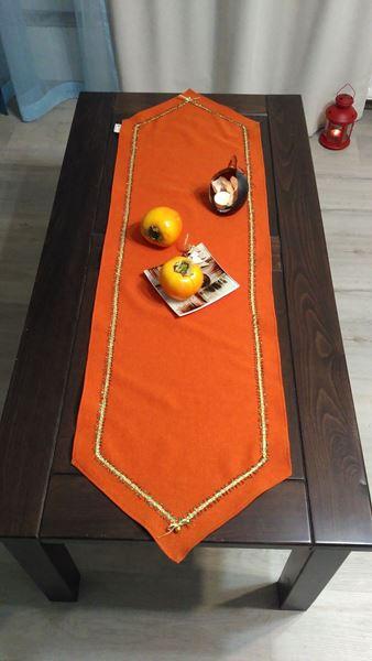 """Снимка на Коледна декоративна лента за маса """"Оранж"""" - 35/125см"""
