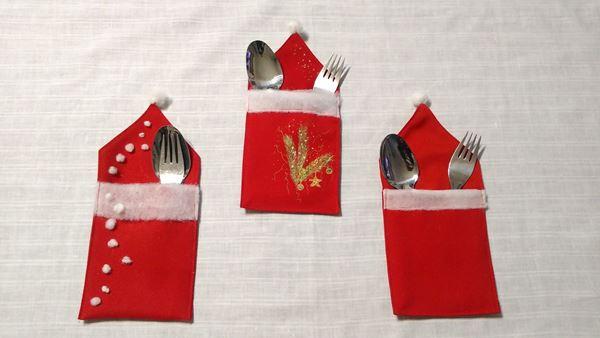 Снимка на Коледни джобчета за прибори
