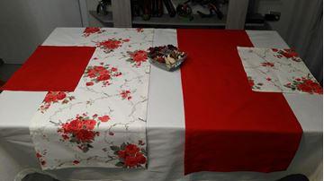 Снимка на Комплект Покривка за маса с ленти и тишлайфери