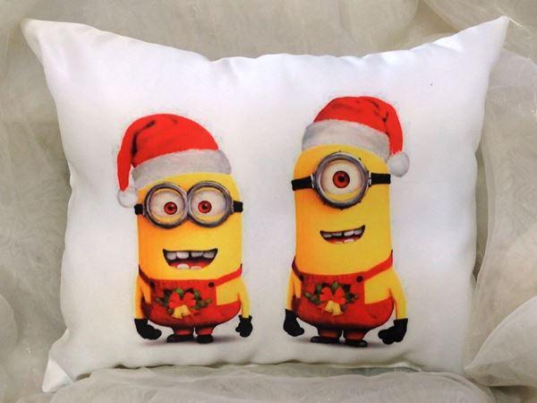 """Снимка на Декоративна  възглавница """"Коледа""""-  Коледни Миньони"""