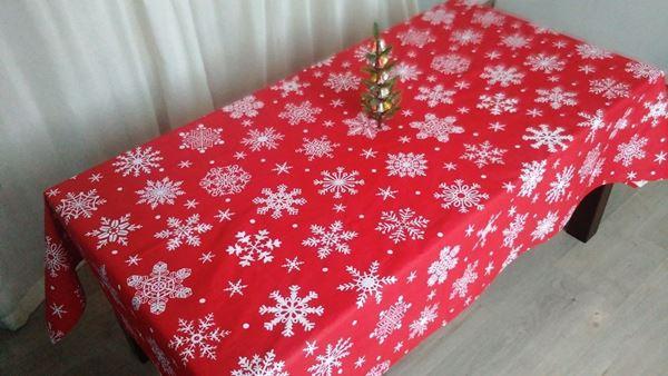 Снимка на Коледна Покривка за маса - Снежинки